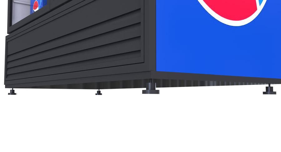 Pepsi Beverage Fridge royalty-free 3d model - Preview no. 8