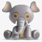 Toy Elle Elephant 3d model