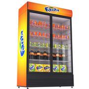 환타 음료 냉장고 3d model
