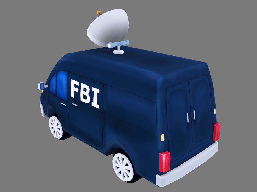 Samochód FBI royalty-free 3d model - Preview no. 3