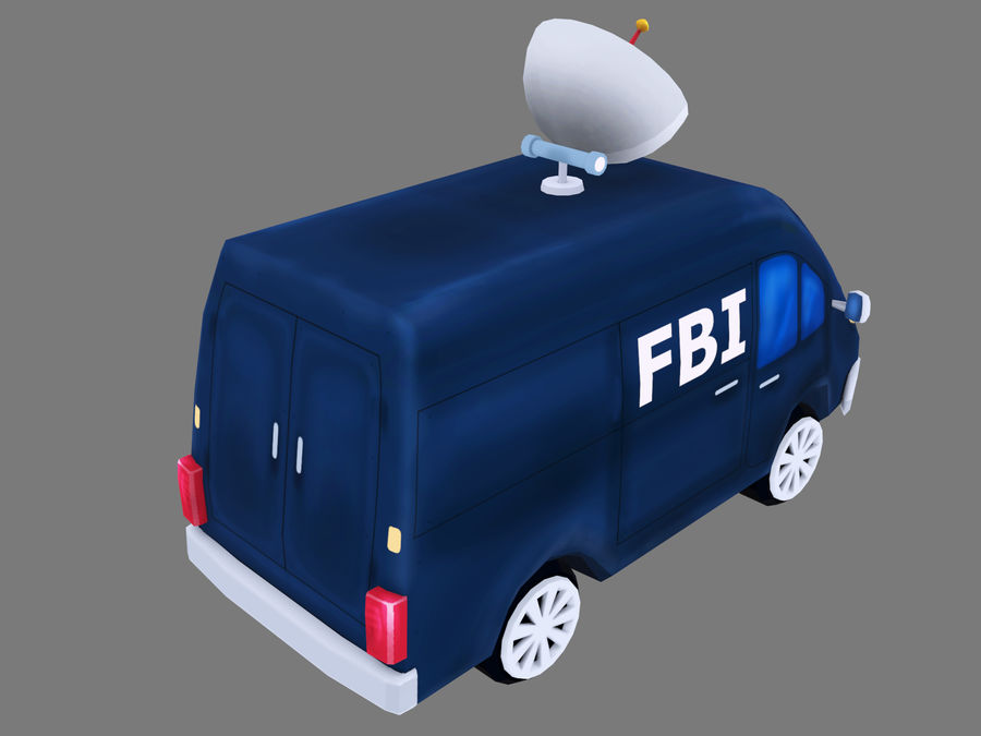 Samochód FBI royalty-free 3d model - Preview no. 5