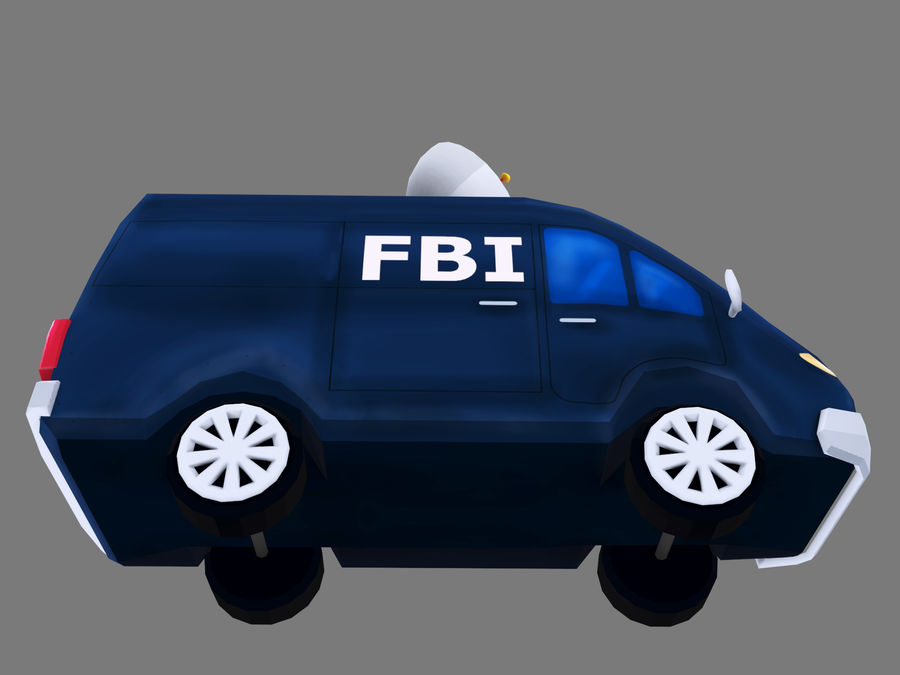 Samochód FBI royalty-free 3d model - Preview no. 7