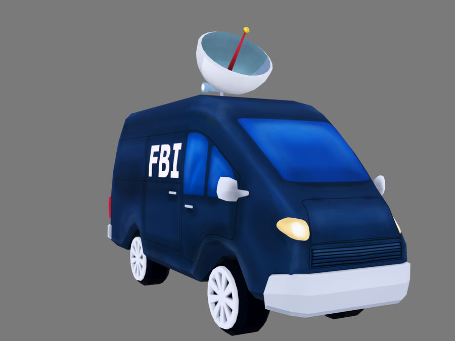 Samochód FBI royalty-free 3d model - Preview no. 6