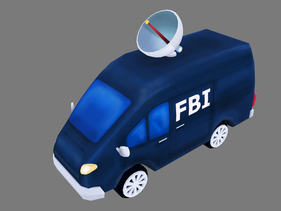 Samochód FBI royalty-free 3d model - Preview no. 1