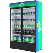 스프라이트 음료 냉장고 3d model