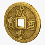 Chińska moneta 3d model