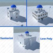 Blue Dome Church in Santorini 3d model