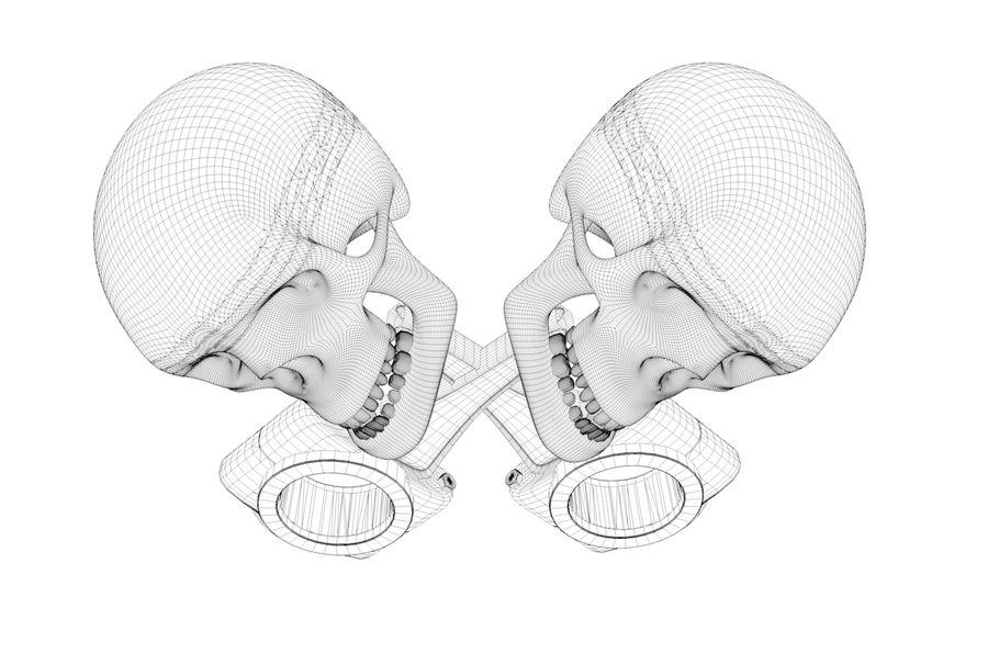 skull piston royalty-free 3d model - Preview no. 5