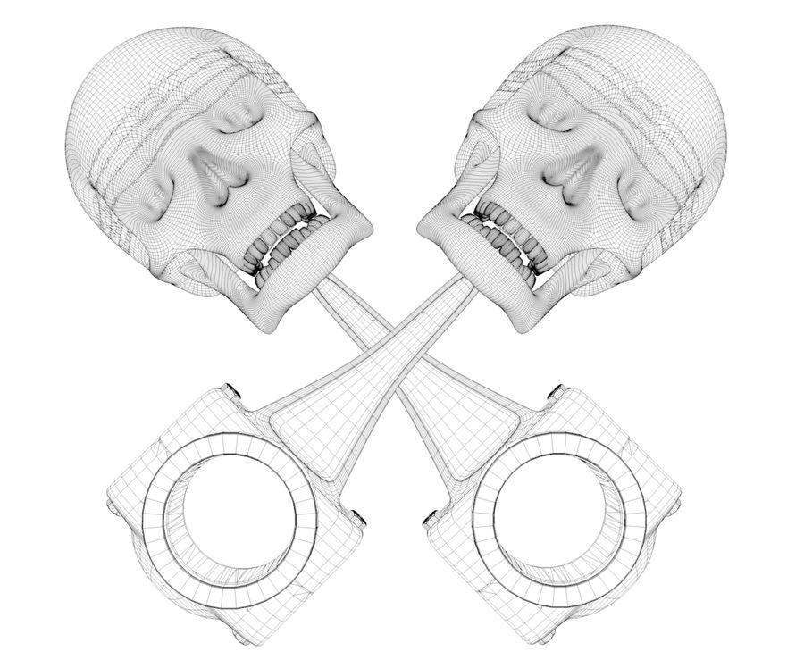 skull piston royalty-free 3d model - Preview no. 2