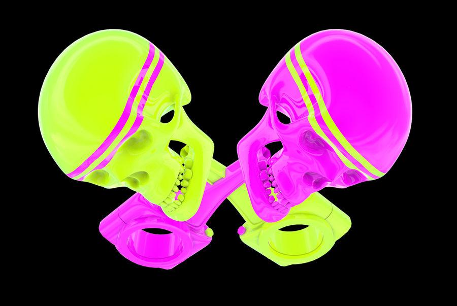поршень черепа royalty-free 3d model - Preview no. 3