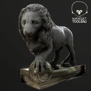 Löwenstatue 3d model