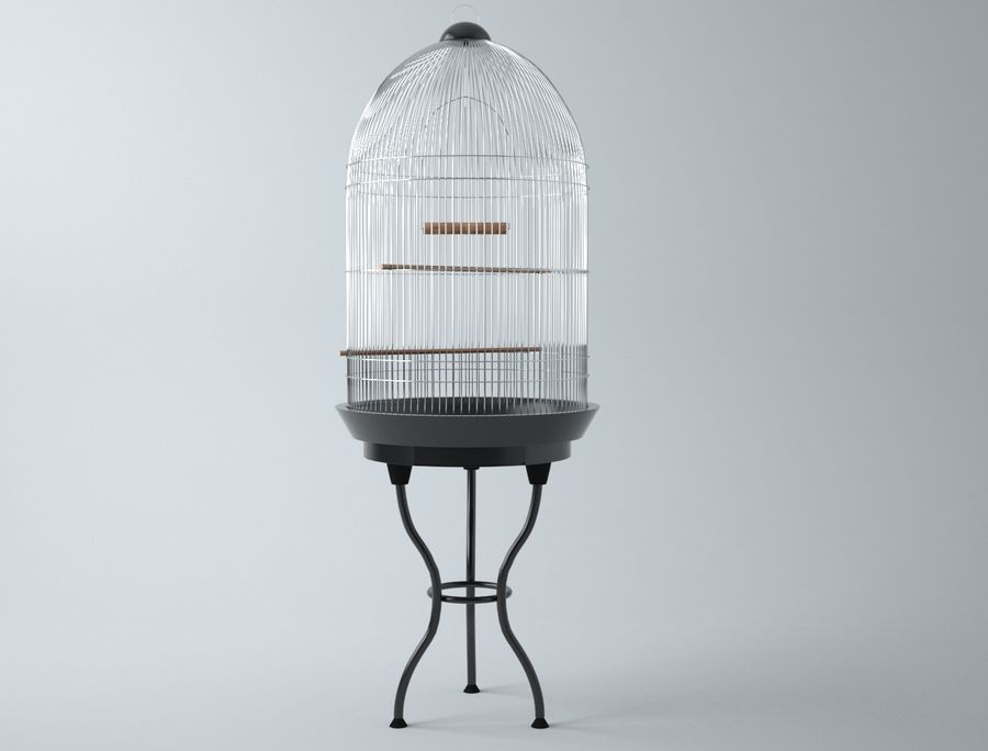 Bird Cage royalty-free 3d model - Preview no. 5