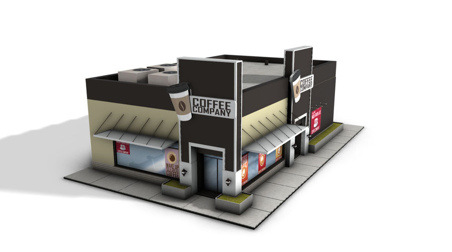 Fast Food Restaurant (A) royalty-free 3d model - Preview no. 2