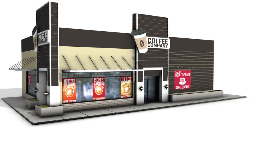 Fast Food Restaurant (A) royalty-free 3d model - Preview no. 5
