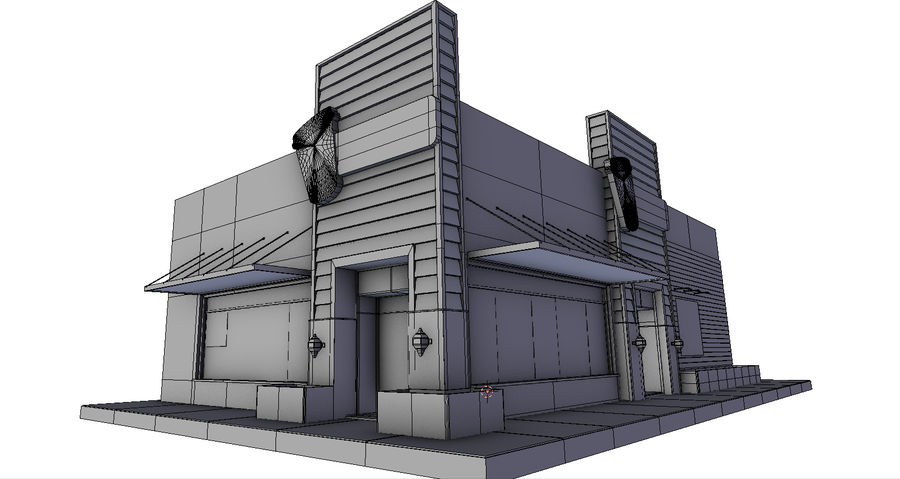 Fast Food Restaurant (A) royalty-free 3d model - Preview no. 13