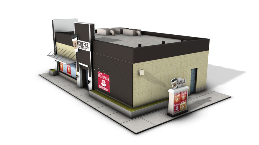 Fast Food Restaurant (A) royalty-free 3d model - Preview no. 3