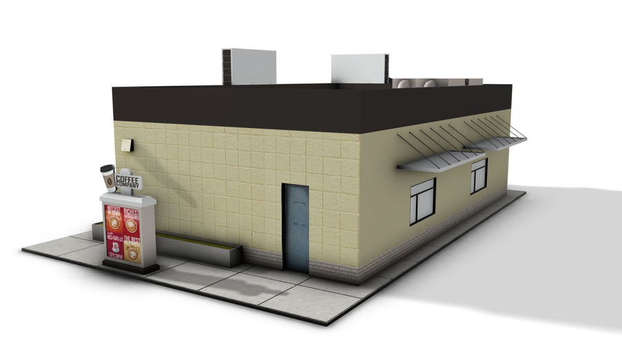 Fast Food Restaurant (A) royalty-free 3d model - Preview no. 4