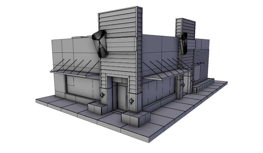 Fast Food Restaurant (A) royalty-free 3d model - Preview no. 8