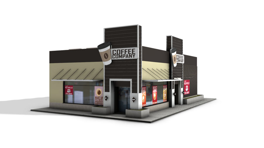 Fast Food Restaurant (A) royalty-free 3d model - Preview no. 1