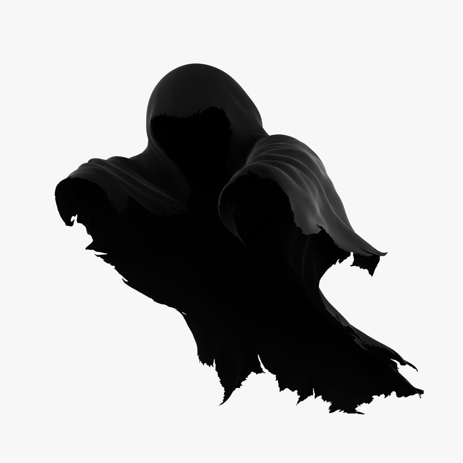 Dark Ghost Halloween royalty-free 3d model - Preview no. 1