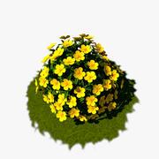 Flower Bush 02 3d model