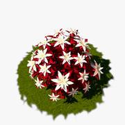 Flower Bush 04 3d model