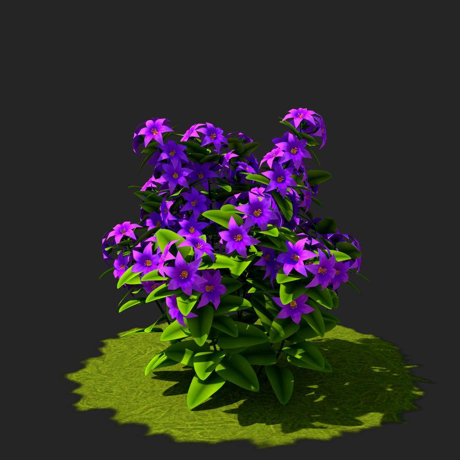 Arbusto de flores 05 royalty-free 3d model - Preview no. 3