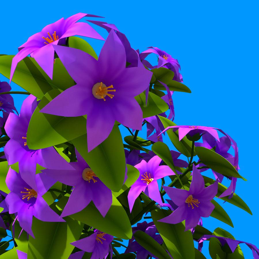 Arbusto de flores 05 royalty-free 3d model - Preview no. 5