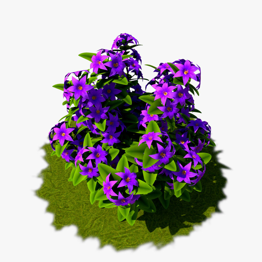 Arbusto de flores 05 royalty-free 3d model - Preview no. 1