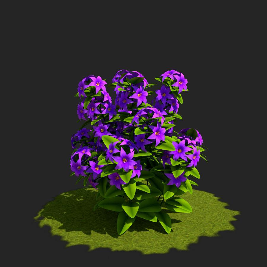 Arbusto de flores 05 royalty-free 3d model - Preview no. 4