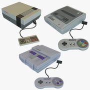 Super NES x3 Package 3d model