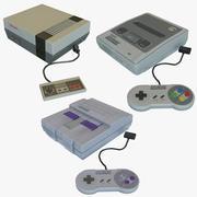 Super NES x3-paket 3d model
