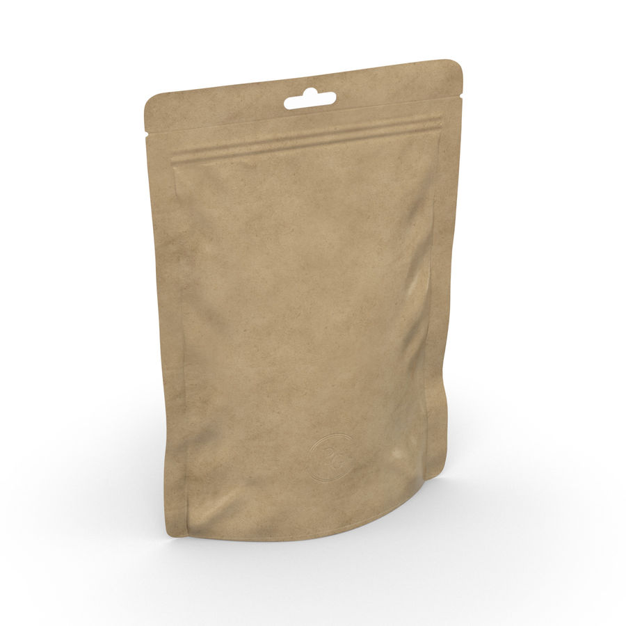 Packaging Food Pouch NATURAL (HQ) royalty-free 3d model - Preview no. 6