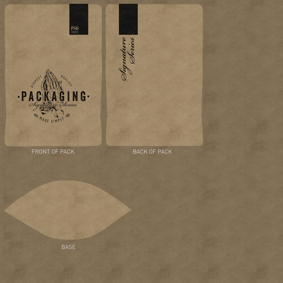 Packaging Food Pouch NATURAL (HQ) royalty-free 3d model - Preview no. 15
