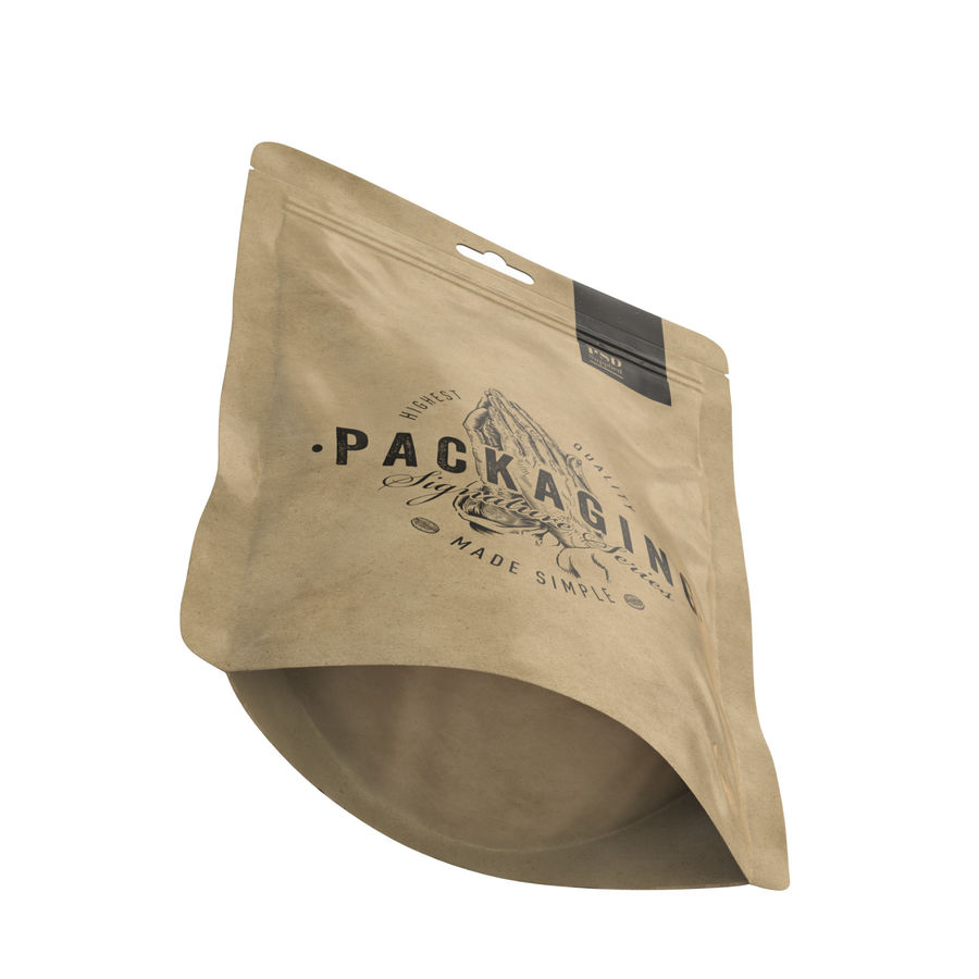 Packaging Food Pouch NATURAL (HQ) royalty-free 3d model - Preview no. 12