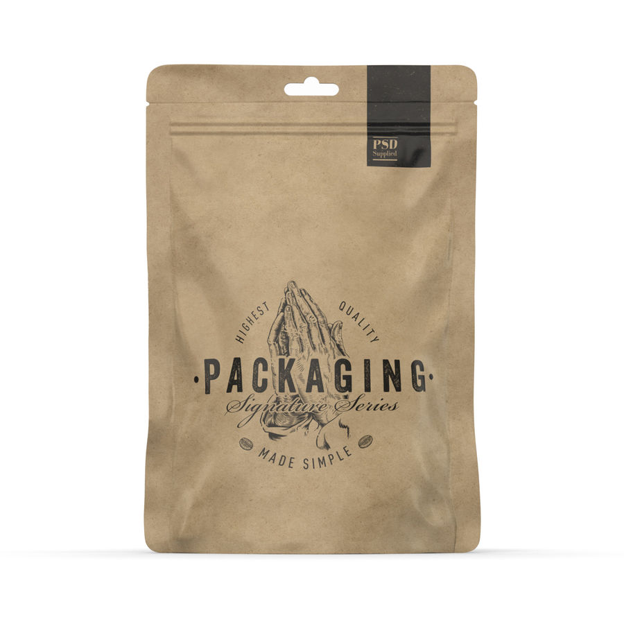 Packaging Food Pouch NATURAL (HQ) royalty-free 3d model - Preview no. 2