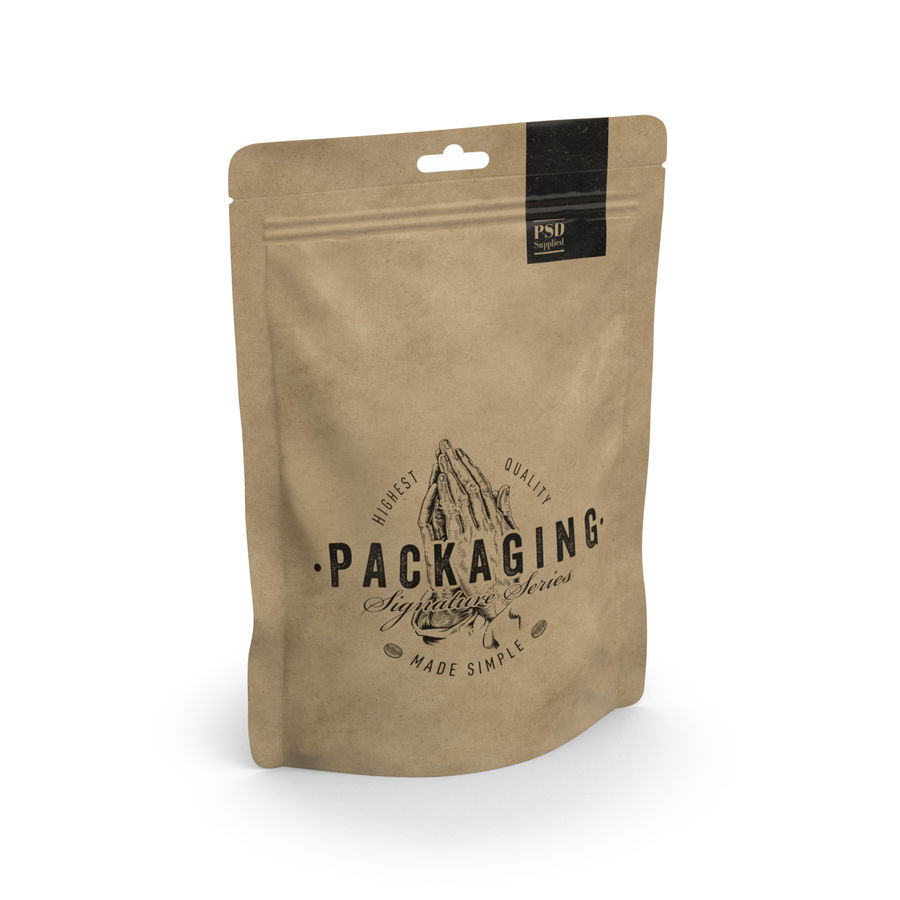 Packaging Food Pouch NATURAL (HQ) royalty-free 3d model - Preview no. 8