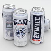 Beer Can Zywiec 0% 500ml 3d model