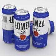 Lata de cerveza Lomza 0% 500ml modelo 3d
