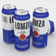 Beer Can Lomza 0% 500ml 3d model