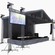 Concert Stage Mid size 3d model