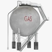 Almacenamiento de aceite esférico modelo 3d