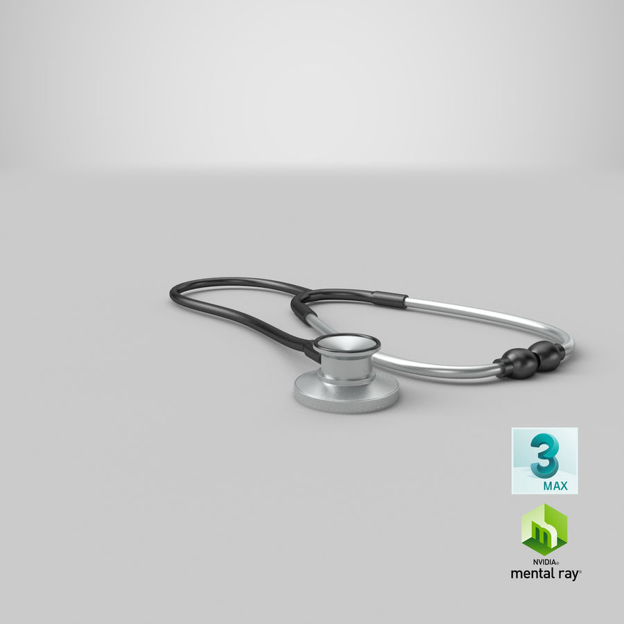 Stethoscope royalty-free 3d model - Preview no. 16