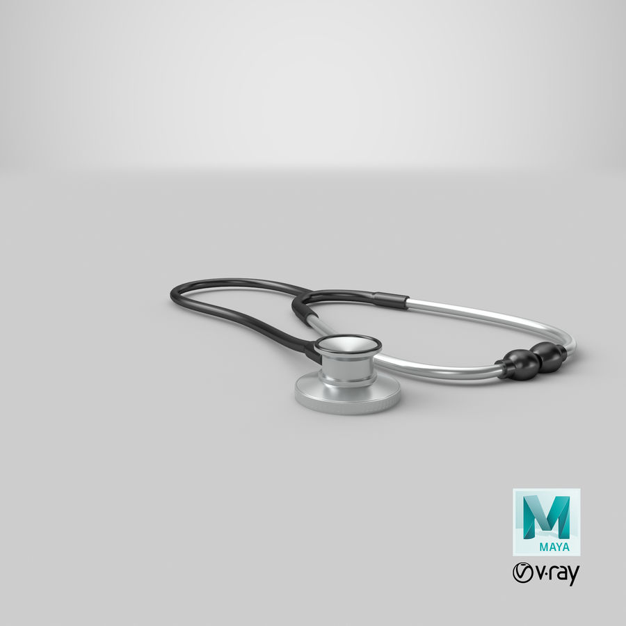 Stethoscope royalty-free 3d model - Preview no. 13