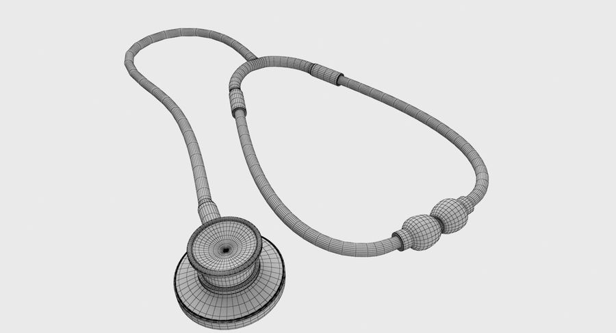 Stethoscope royalty-free 3d model - Preview no. 9