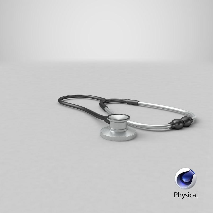 Stethoscope royalty-free 3d model - Preview no. 17