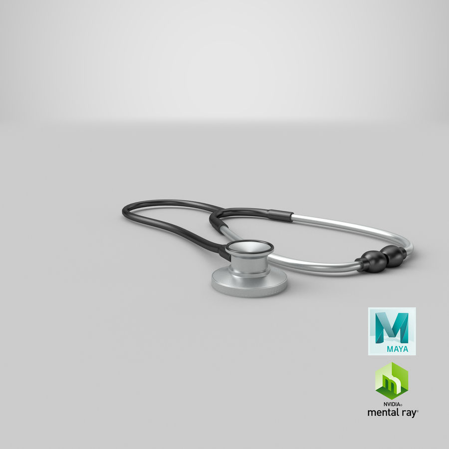 Stethoscope royalty-free 3d model - Preview no. 14