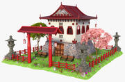 Fantasy Japanese House 3d model