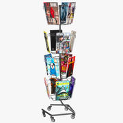 Magazines Rack 3d model