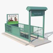 NYC tunnelbana entré 3d model
